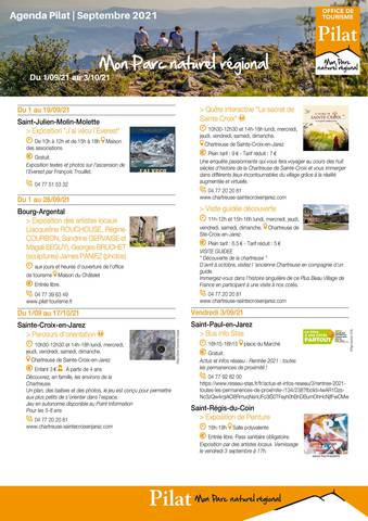 Agenda fêtes et manifestations Pilat Septembre 2021