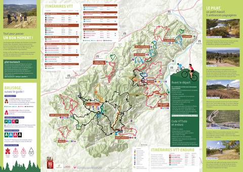 itinéraires circuits parcours vtt cyclo enduro velo cross country
