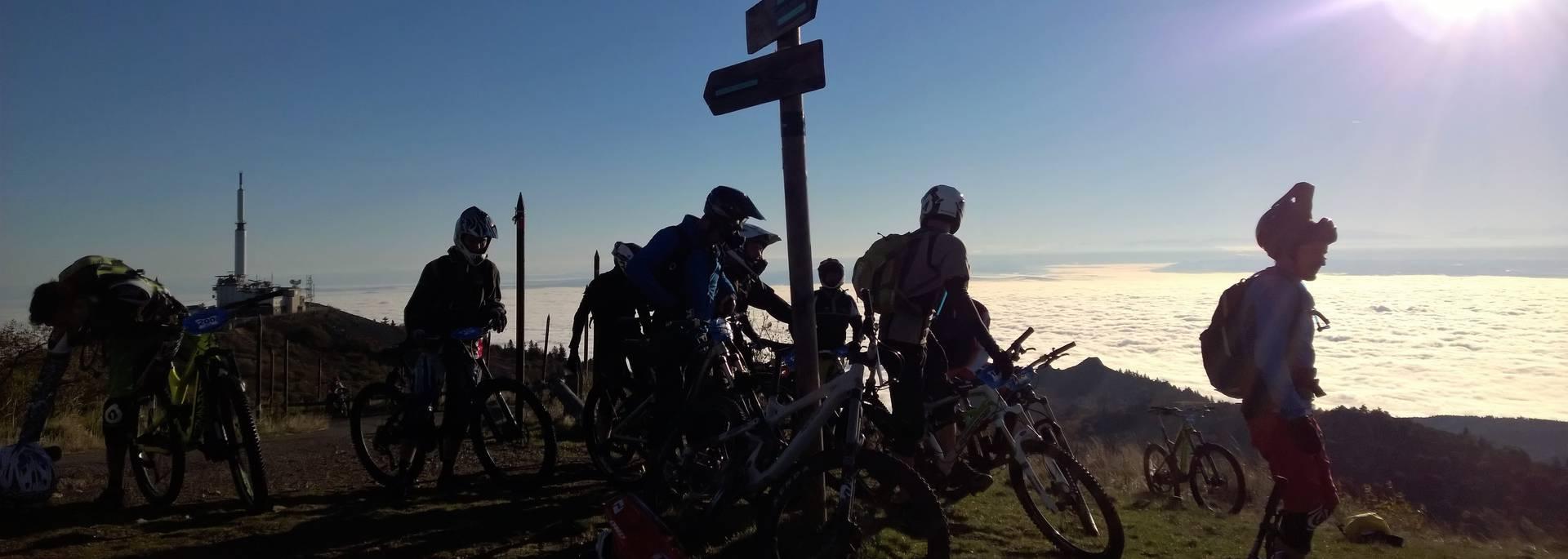 crêt oeillon pilat perdrix vtt itinéraires rhône alpes auvergne monotrace singletrack sentiers balisés