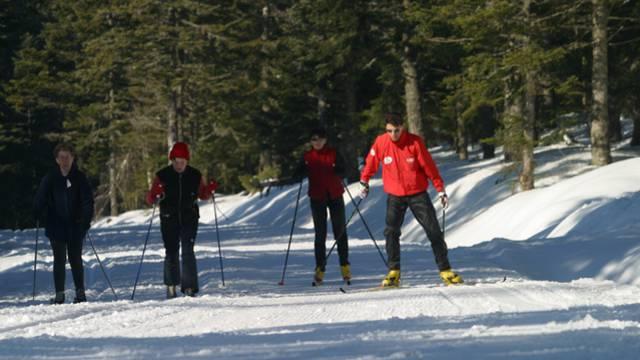 ski nordique dans le Pilat