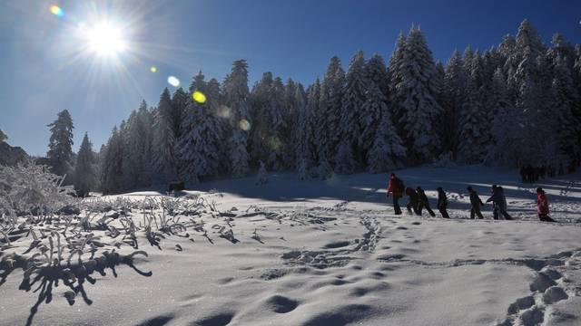 Le Pilat sous la neige