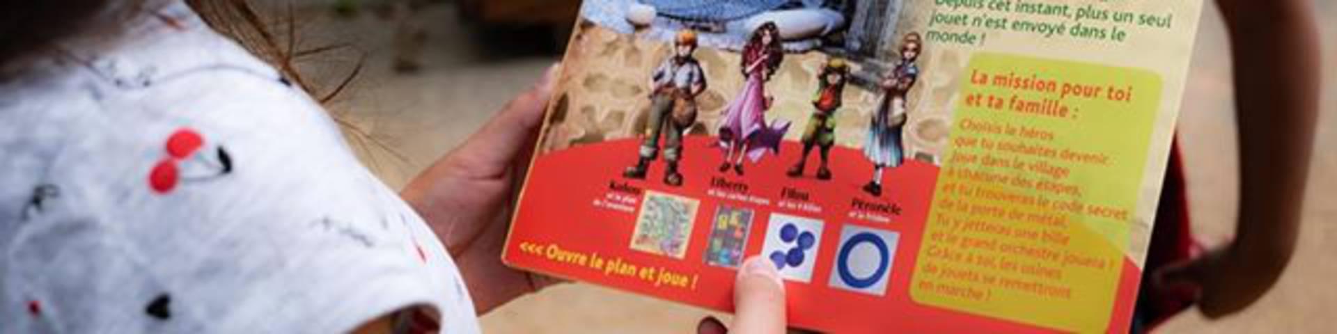 Aventures Jeux Parc du Pilat Bouclier des secrets Enfants famille activités cahsse au trésor