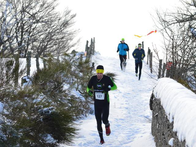 cross neiges trail course hiver pilat saint regis du coin