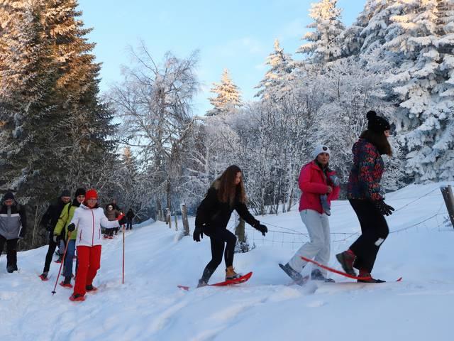 veillées nordiques pilat hiver neige