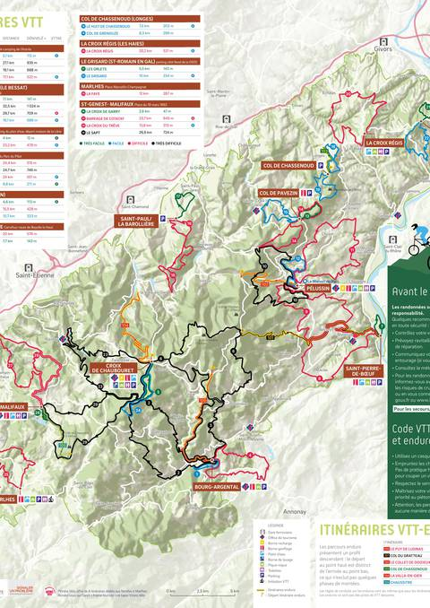 itinéraires circuits parcours vtt cyclo enduro velo cross country