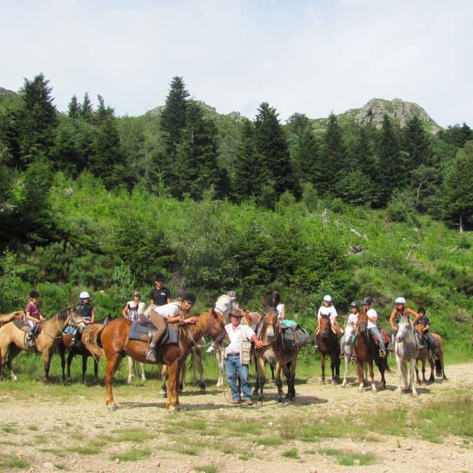 rando à cheval Pilat