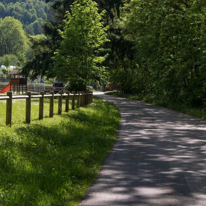 Via Fluvia, voie verte à Saint-Sauveur-en-Rue